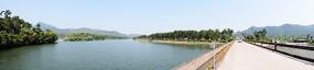 大河上的桥梁风景摄影