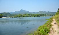 绿色的河水风景图