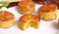 中秋节金沙奶黄月饼图