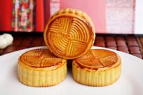 中秋节月饼树立图