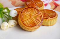 中秋月饼摄影图