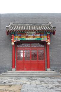 红色古建大门