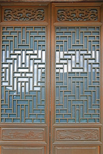 木雕窗棂图片素材