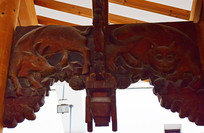 牛形木雕图片素材