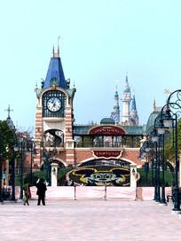 上海迪士尼钟楼