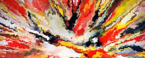 放射抽象油画