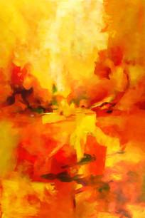 红色的抽象油画