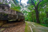 飞鹅岭公园的东征碉堡