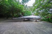 飞鹅岭公园的米格战机侧面