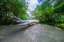 飞鹅岭公园的退役战斗机