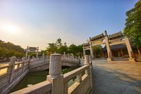惠州丰湖书院的夕阳景色
