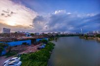 惠州西枝江河岸景色