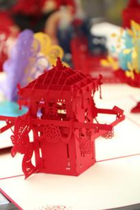特色3D立体剪纸-花轿