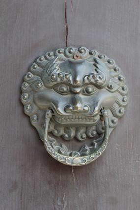 铜雕狮子辅首首门扣