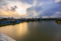 夕阳下的惠州西枝江