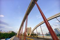 仰视惠州水门大桥