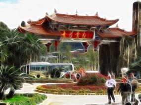 电脑画 《云南建筑》