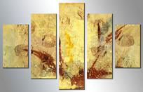 五联抽象画客厅抽象装饰画
