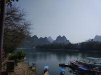 桂林漓江边美丽的风景