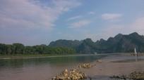 桂林漓江乌桕滩的美丽风光