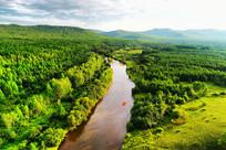 大森林河流风景