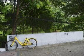 路边的自行车