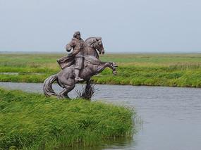 湿地公园雕刻