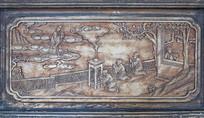 传统木门人物浮雕装饰