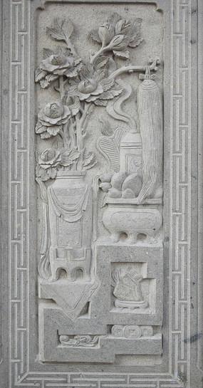 花卉盆景石雕艺术