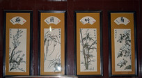 梅兰竹菊古典装饰画