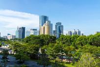 远眺惠州江北城市建筑景观