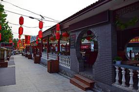 重渡沟小吃街的仿古建筑