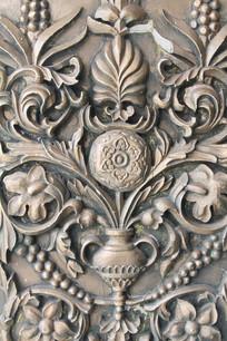 花瓶花纹纹雕刻
