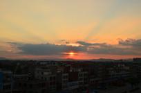 金色的夕阳