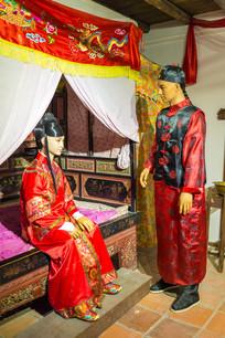 客家婚礼蜡像展示