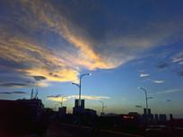 傍晚的天空景观