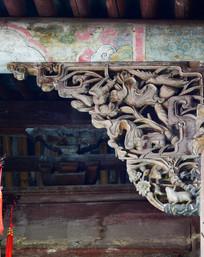 花卉鸟兽纹理木雕