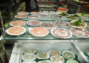 火锅店配菜区