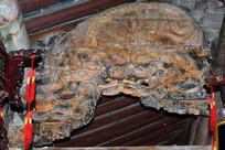 狮子图案古建筑木雕装饰