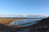 西藏圣湖纳木措夕阳