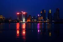 夜景下的黄浦江