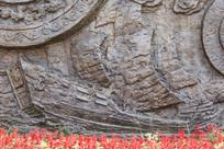 壁雕古代帆船