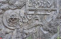 壁雕古代炼铁画面