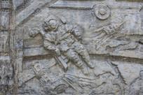 壁雕宇航员与航天器