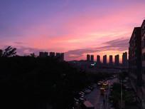 城市夕阳晚霞
