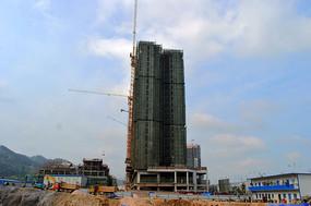 建设中的黎平侗乡茶城楼盘