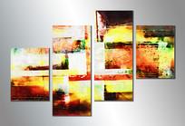 复古抽象油画