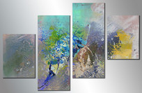 高级灰组合抽象油画