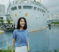 深圳海上世界美女正面摄影