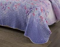 紫罗兰床单细节